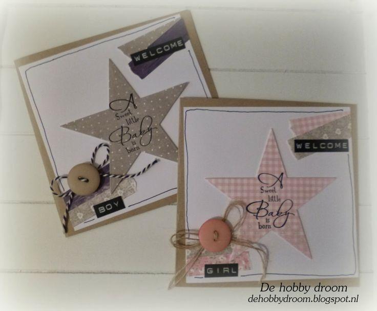 DE hOBBy DROOm: Babykaartjes voor Eline...