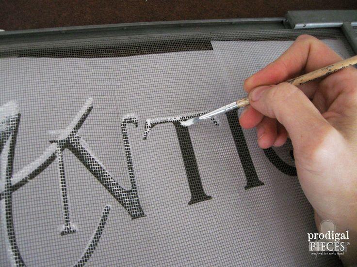 Painting on a Window Screen   Prodigal Pieces   www.prodigalpieces.com