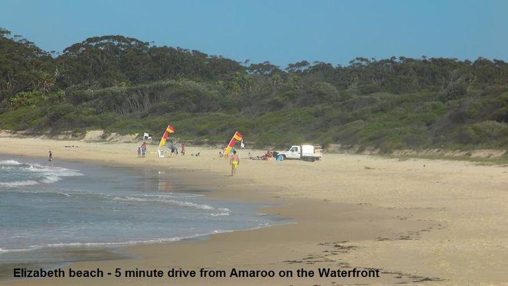 Patrolled Elizabeth Beach is just 5 minute drive from Smiths Lake. www.OzeHols.com.au/1 #Beach #BeachHolidays #CoastalVacation