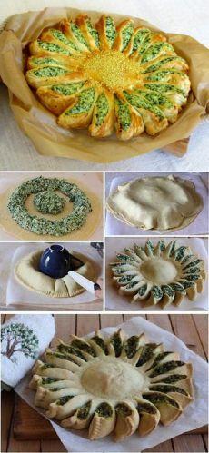 Пирог с рикоттой и шпинатом/Torta salata con ricotta e spinaci/