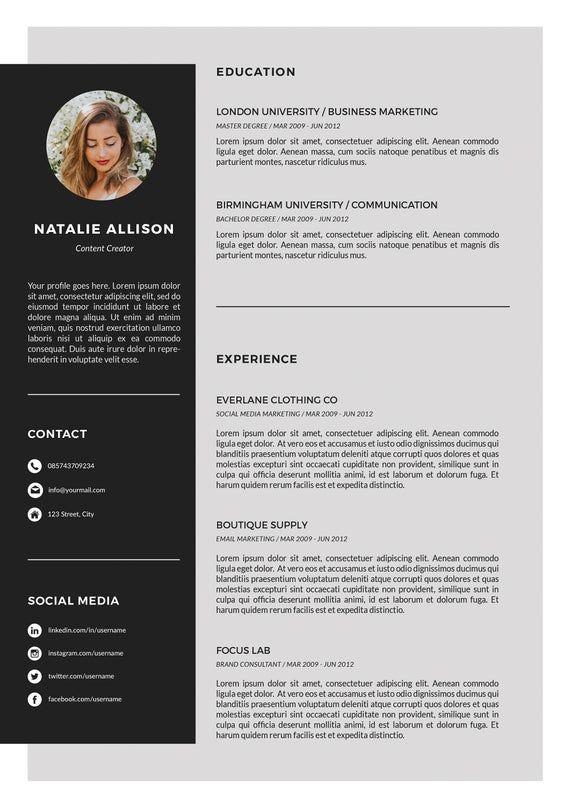 Resume Template Instant Download Cv Template Cover Letter Etsy Resume Template Resume Design Creative Resume Design
