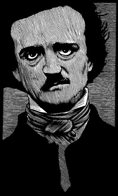 Illustration of Edgar Allan Poe by Barry Moser. - 'Beauty of whatever kind, in its supreme development, invariably excites the sensitive soul to tears.' - Edgar Allan Poe: