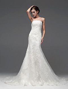 tromba / sirena abito da sposa senza spalline pavimento-lung... – EUR € 449.99