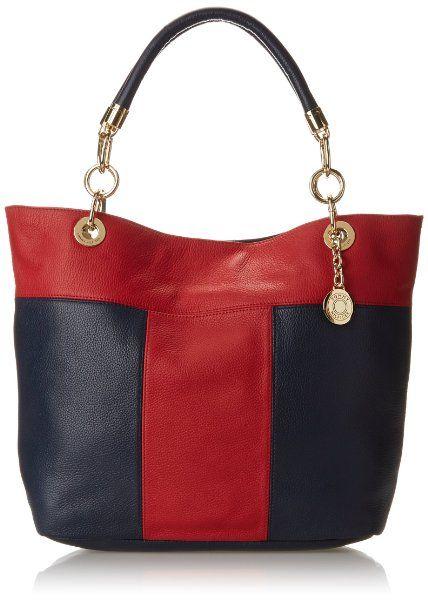 Tommy Hilfiger TH Signature Colorblock Pebble Shoulder Bag