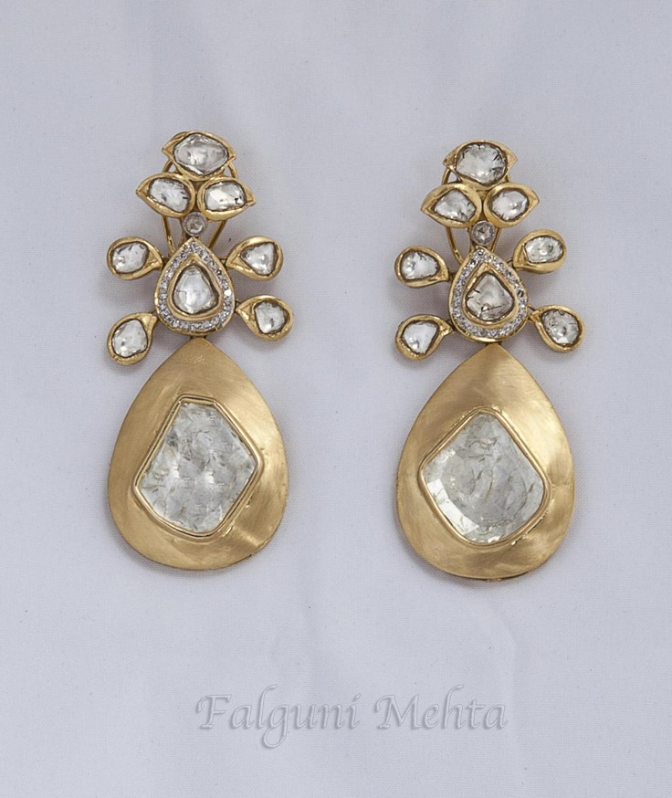 beautiful and unique earrings from Indian designer Falguni Mehta.