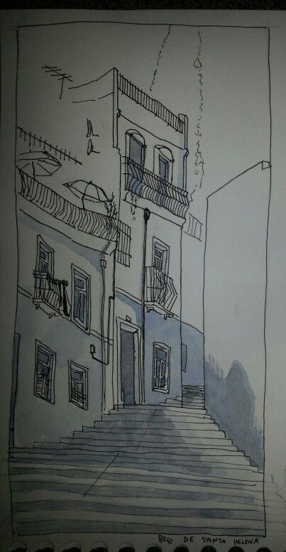 J2 - Lisbonne - etude des ombres en bas d une ruelle ombragée,  vers 14h.
