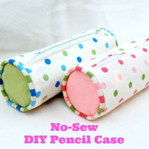 Make a DIY pencil case with this no-sew tutorial and video. #backtoschool #supplies #craft #DIY