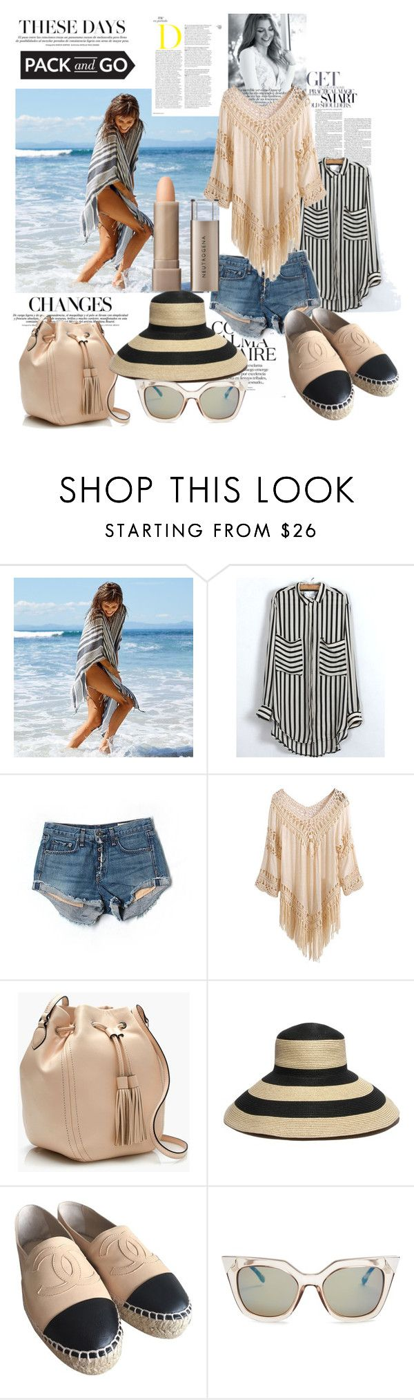 """Pack & Go ~ Mexico City"" by yvettemmh ❤ liked on Polyvore featuring Aerie, rag & bone/JEAN, J.Crew, Gottex, Chanel, Fendi, Neutrogena and Packandgo"