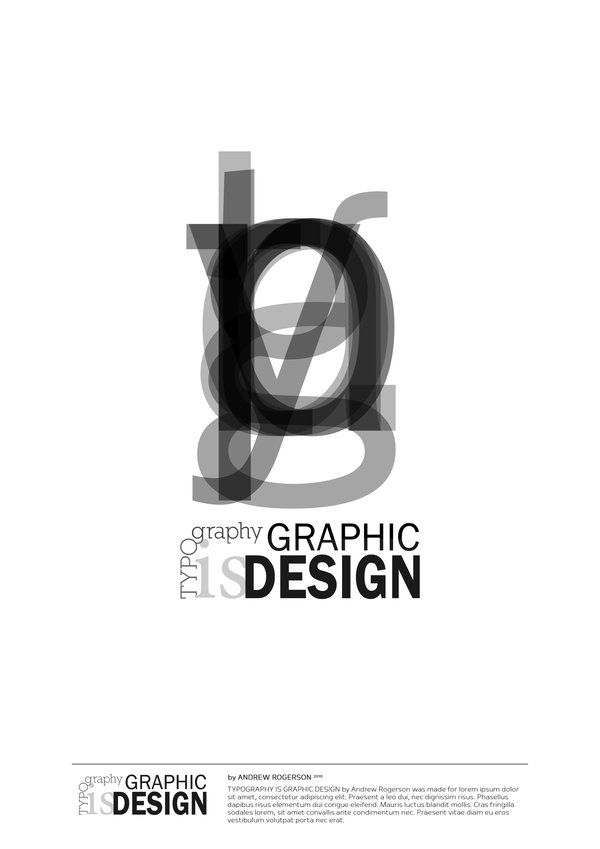 Very simple black and white design. Using the opacity on top of numerous letters. Layout of the type at the bottom is very simple and adds to the simplicity of the design.