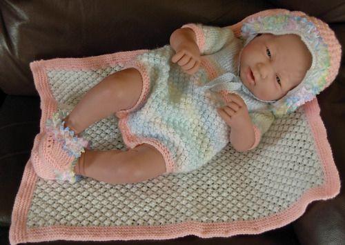"Girl's pdf Knitting Pattern 4 Pce Set in all 3 sizes - Prem Baby 16/18"" Doll, 2. Newborn 18/20"" Doll, 3. 0-3 Month Baby 20/22"" Doll - IMOGEN by BlueButterflyUK (3.50 GBP) http://ift.tt/1sxa2bu"