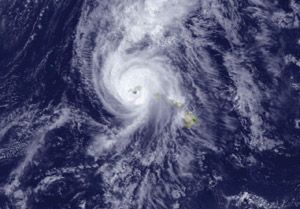 Hurricane Iniki struck the state of Hawaii