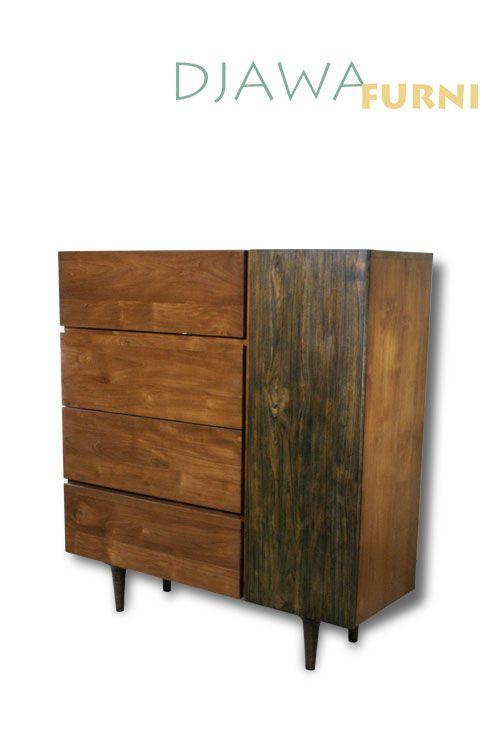 Stunning design of an Affera Bookrack, featuring 4 drawers and 4 hidden racks.