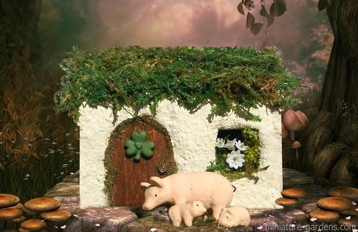156 best fairy houses images on pinterest fairies garden for Irish fairy garden