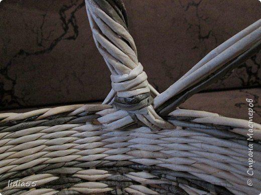 Мастер-класс Поделка изделие Плетение ручка для корзины Трубочки бумажные фото 36