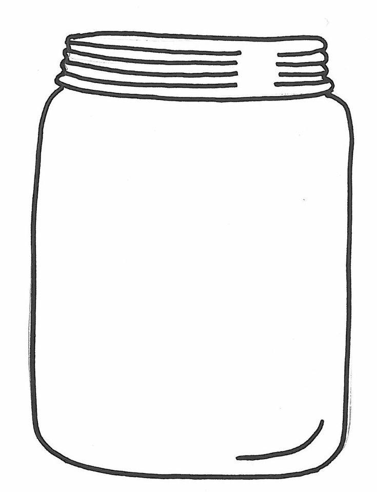 Candy jar clip art print coloring pages ~ 17 best images about Digital Stamps - Jars on Pinterest ...