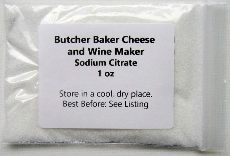 Butcher Baker Cheese and Wine Maker Sodium Citrate (Trisodium Citrate) 1, 2, 4, 8, and or 16 oz. Indefinite shelf life (If stored under cool, dry conditions; 25