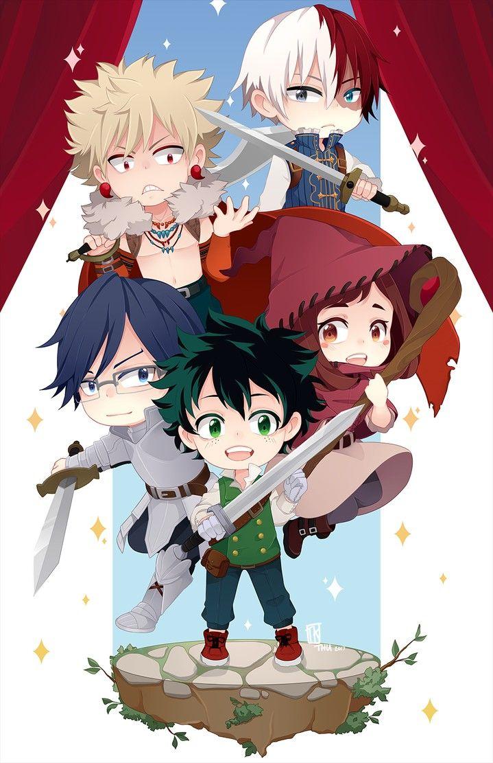 My Hero Academia Fantasy Au Chibi My Hero My Hero Academia My Hero Academia Manga