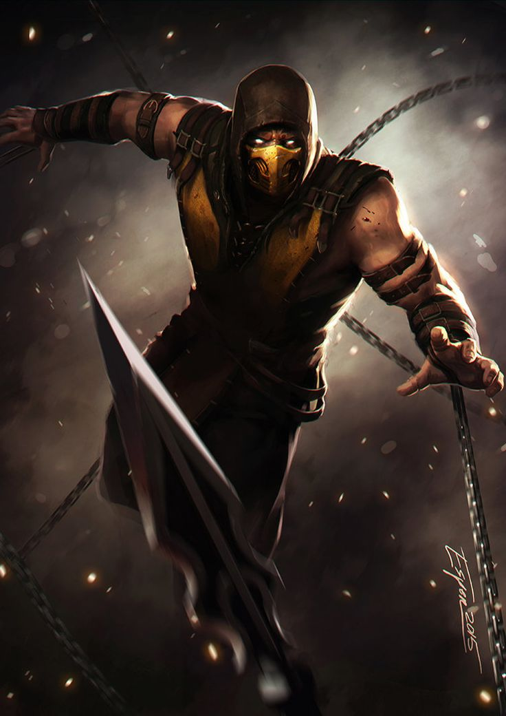 Scorpion as he appears in Mortal Kombat 10. I haven't played the game yet, still waiting for a good deal on Steam, until then I'm stuck with MK9.