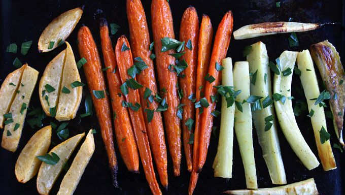 One of my most favorite ways to prepare vegetables is roasting them—especially root vegetables like carrots, parsnips, rutabagas and turnips.