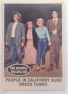 The Beverly Hillbillies Trading Card: People In Californy Sure Dress Funny