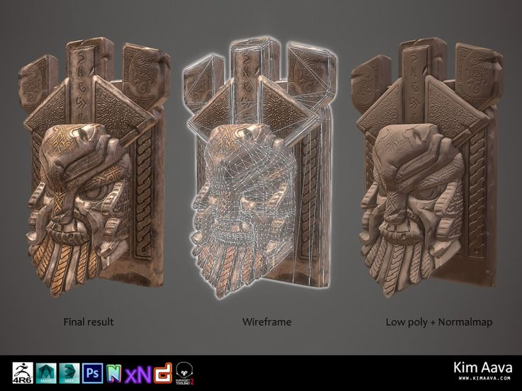 Nordic Environmet - Viking head stone by Mad-Owl on deviantART