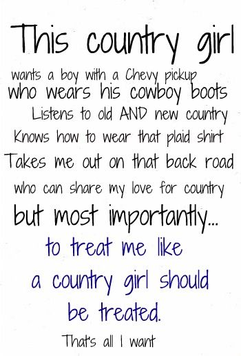 This country girl wants