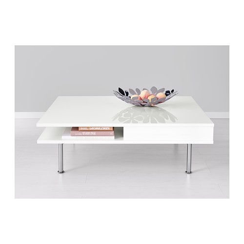 TOFTERYD Coffee table, high gloss white high gloss white 37 3/8x37 3/8