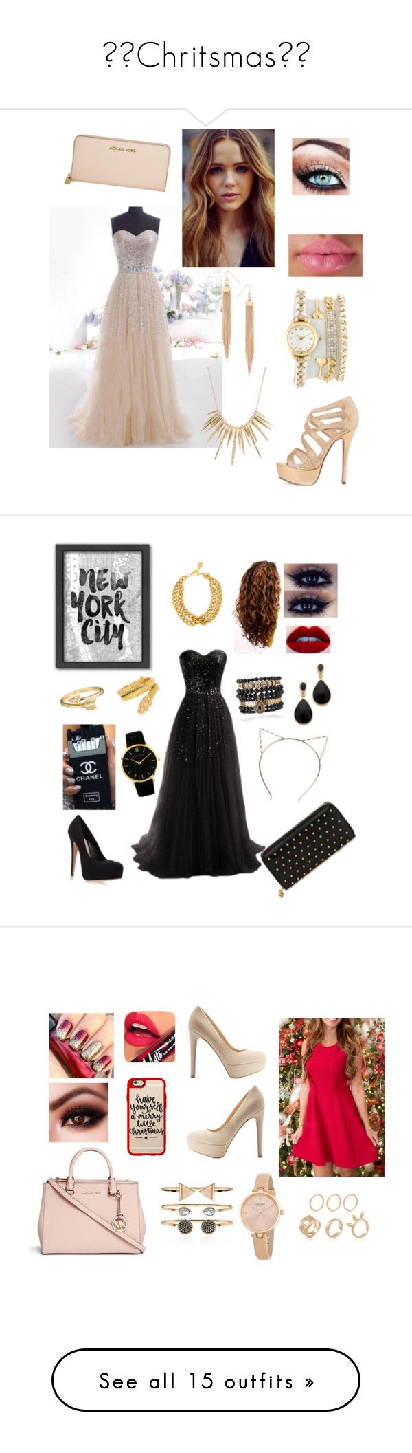 """🎄⛄Chritsmas⛄🎄"" by alaska-moore ❤ liked on Polyvore featuring Michael Kors, Alexis Bittar, Dorothy Perkins, Americanflat, Carvela Kurt Geiger, Samantha Wills, Kenneth Jay Lane, Bling Jewelry, Cartier and Boohoo"