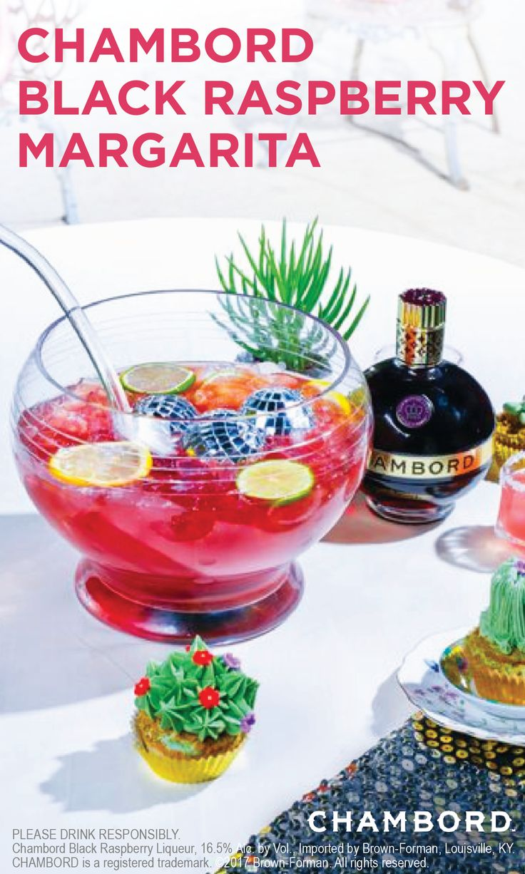 The Black Raspberry Margarita will make all of the ladies excited for your weekend brunch. Garnish this flavorful cocktail with limes, lemons and fun luxe items such as spangly disco balls. You and your friends are sure to enjoy every sip of this fun and festive recipe.