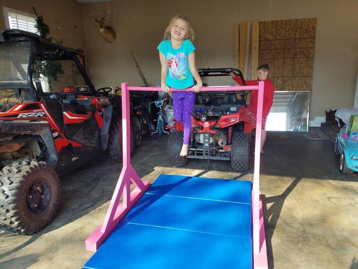 DIY Gymnastics Bar (playground kids dads)