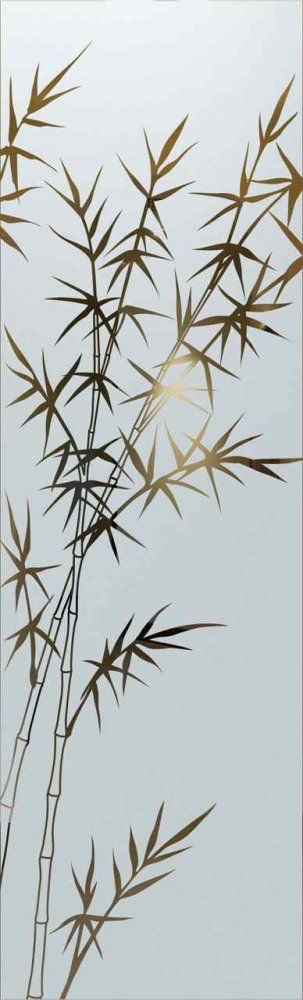glass window etched glass Asian style trees foliage bamboo forest sans soucie