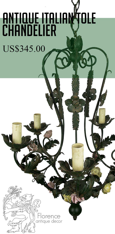 147 best antique chandeliers crystal chandeliers lighting vintage tole chandelier toleware chandelier vintage chandelier floral chandelier shabby chic light italian chandelier tole and porcelain arubaitofo Choice Image