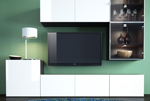 Center the entertainment around your TV this time of year with a customized BESTÅ system.
