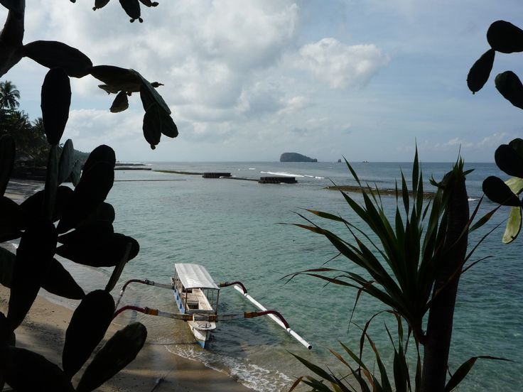 Early morning looking out to sea, Candi Dassa, Bali.