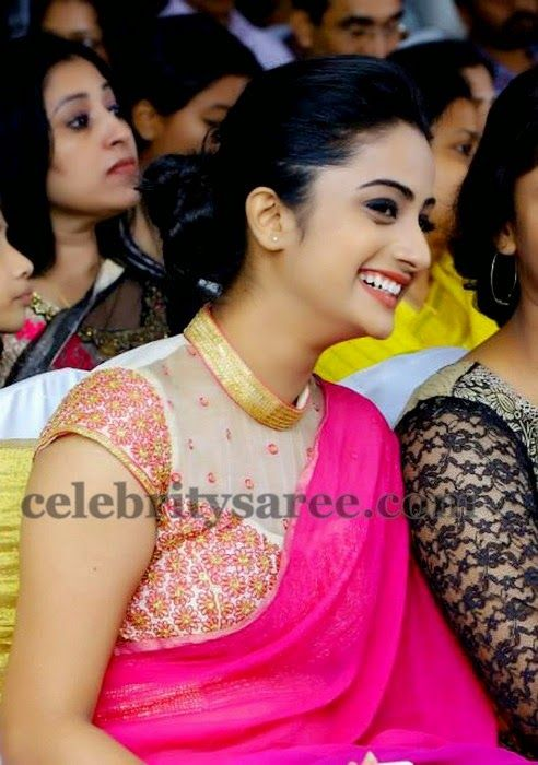 Namitha Pramod Thread Work Blouse | Saree Blouse Patterns