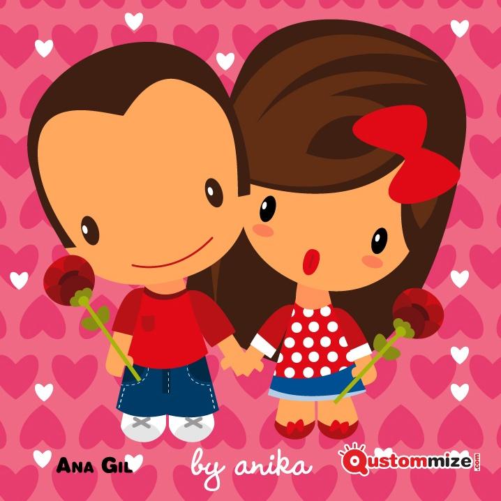 """I Concurso de ilustración """"Jon"""" (San Valentín 2.013).    Esta es una de las dos ilustraciones ganadoras del concurso. Ana Gil."""