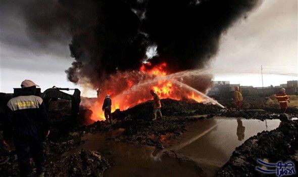 """إطفاء حريق في البئر رقم """"40"""" بحقل…: تمكنت الفرق الفنية والهندسية بوزارة النفط العراقية ، من إطفاء الحريق المشتعل في بئر رقم""""40"""" في حقل…"""