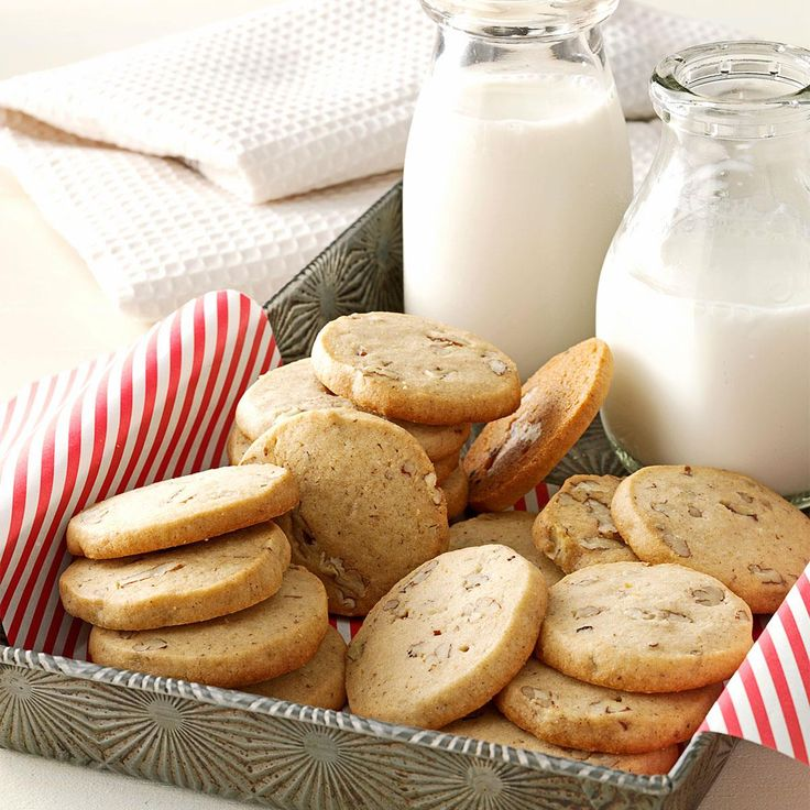 Aunt Ione's Icebox Cookies Recipe -Whenever we went to visit my Aunt Ione in south Georgia, her icebox cookies were our favorite treat. My mother later make these cookies, and I remember begging for a slice of the raw dough—I thought the unbaked cookies tasted just as great as the baked! —Jenny Hill, Meridianville, Alabama