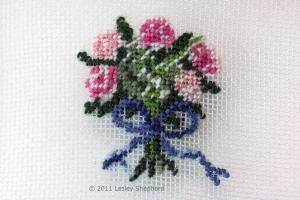 Free Charts and Tips  for Miniature Needlework Projects: Traditional Floral Needlepoint Designs