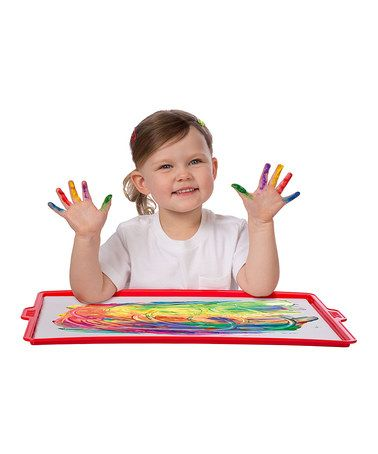 *DIY Idea*... Look what I found on #zulily! Finger Paint Paper & Tray Set #zulilyfinds