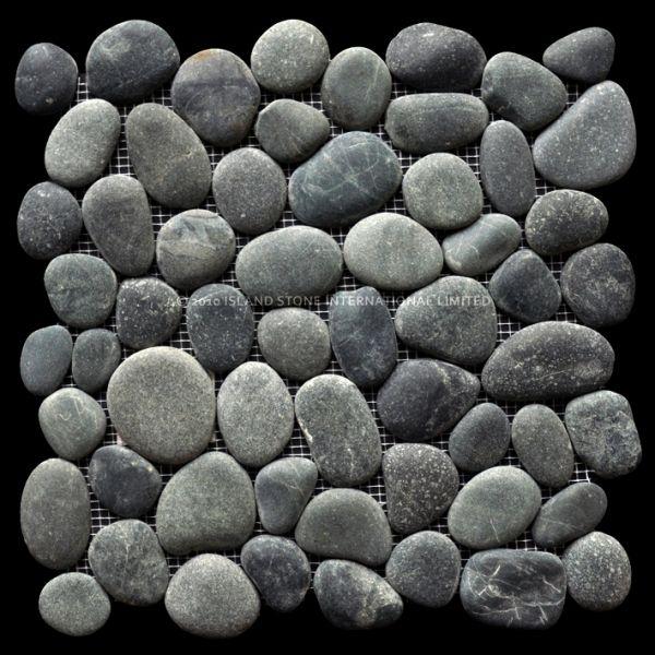 perfect pebble tile medan charcoal beach style floor tiles by island stone shower floor