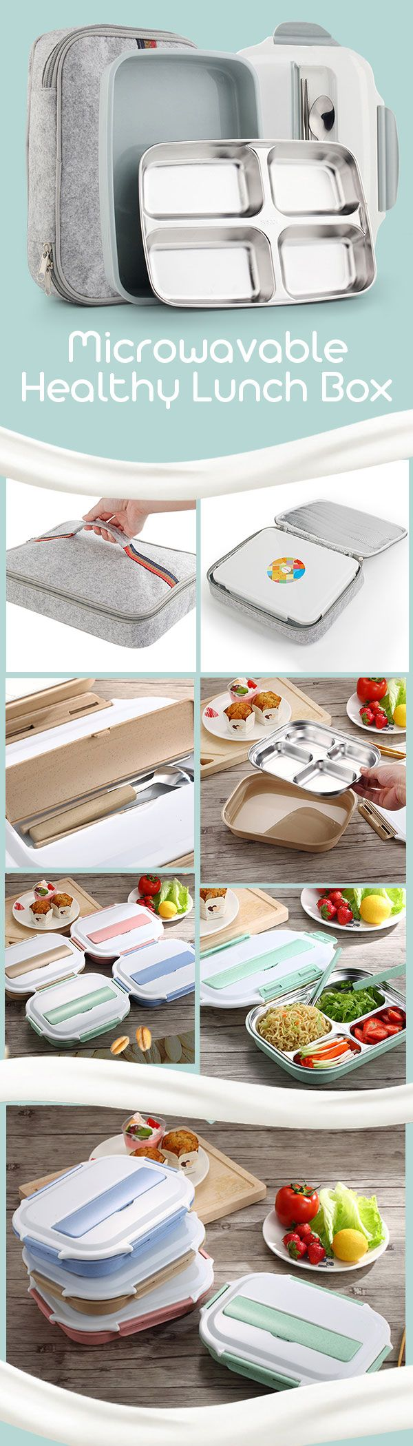 The microwave lunch box.It can use the microwave to heat. Humanization design.Built-in cutlery box and Convenient cover. 304 stainless steel and Wheat Straw material.Healthy and safety. Portable Outdoor.Suitable for children Kids to School,Picnic,Camping. Guys, click the pic or the visit button to check out our purchasing page if you'd like to have one:)