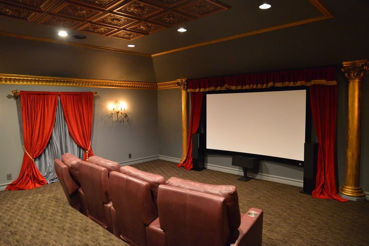 Make sure your Home Theater Stands Out From the Rest! We Can help you accomplish that! Visit our site www.LushesCurtains.com to view our full collection of Velvet Curtains at affordable prices!