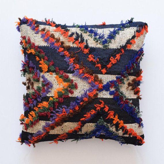 Kilim Pillow Coussin Morrocan Cushion 14x14 Lumbar Pillow Kissen