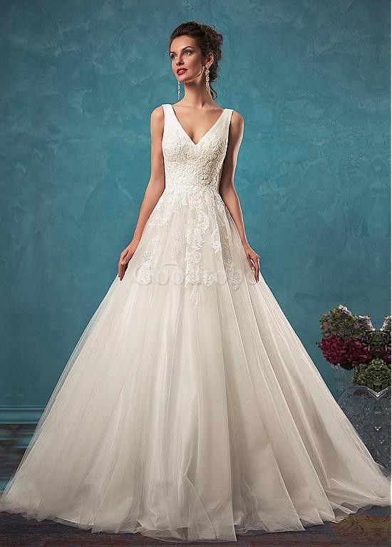Robe de mariée décoration dentelle jardin en plein air naturel traine  Service clientèle, couture parfaite et livraison rapide. 0a923cecf12