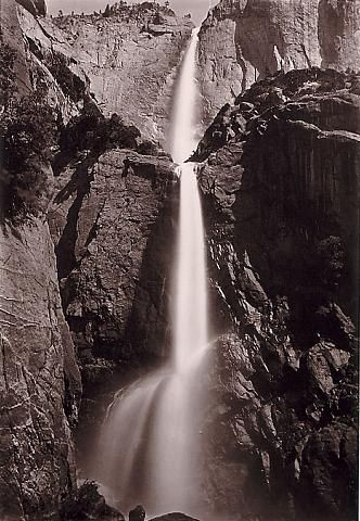 Yosemite Falls - Carleton Watkins -   View from the Bottom 1878-81
