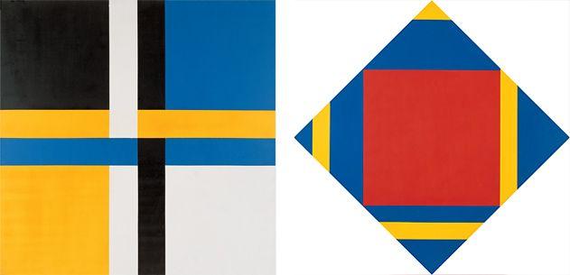 Verknotung Gleicher Farbtelle, 1967 and Progression in Gelb, 1971 - 1973.