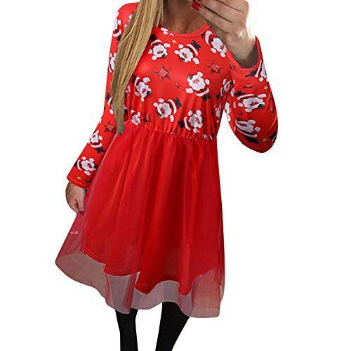 94c79e2e62464a friendGG-Damen-Weihnachten-KleiderWeihnachtskleid-Frauen-Weihnachten- Weihnachten-Drucken-