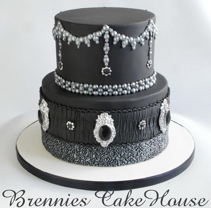 black and silver wedding cake ideas black and silver by brenda bakker cakes amp cake 11828