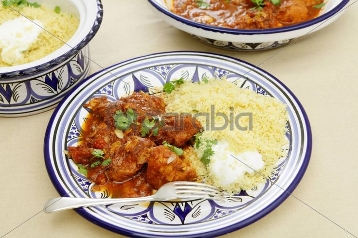 Chicken tagine meal horizontal
